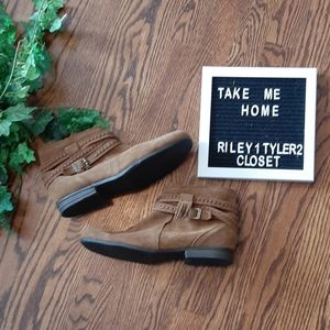 MINNETONKA soft suede bootie moccs